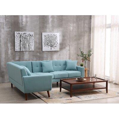 Barnet Sectional Upholstery: Eton Blue, Orientation: Left Hand Facing