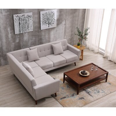 Barnet Sectional Upholstery: Beige/Tan, Orientation: Left Hand Facing