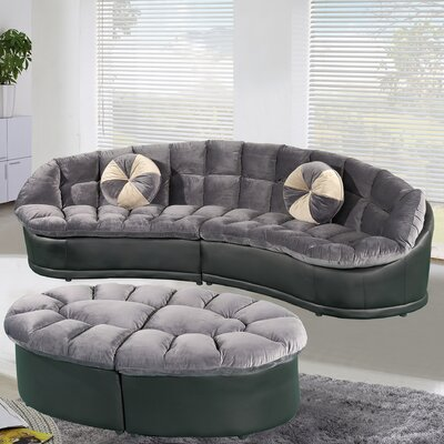 Curtiss Sectional Upholstery: Gray