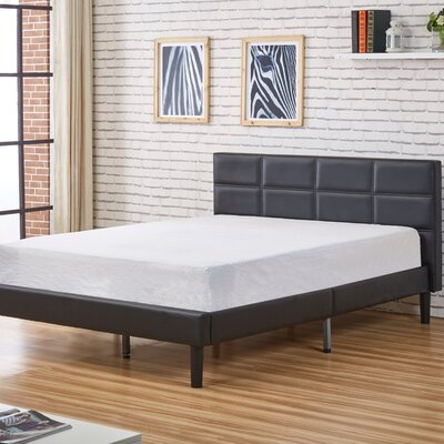 Shuffler Upholstered Platform Bed Upholstery: Black, Size: Queen