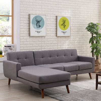Conor Sectional (Set of 2) Orientation: Left Hand Facing, Upholstery: Paynrs Gray