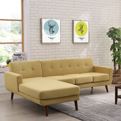 Conor Sectional (Set of 2) Upholstery: Beige/Tan, Orientation: Left Hand Facing