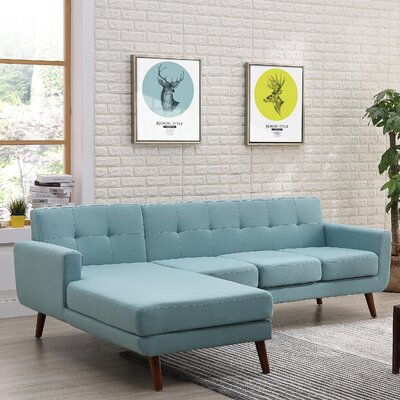 Conor Sectional (Set of 2) Upholstery: Eton Blue, Orientation: Left Hand Facing