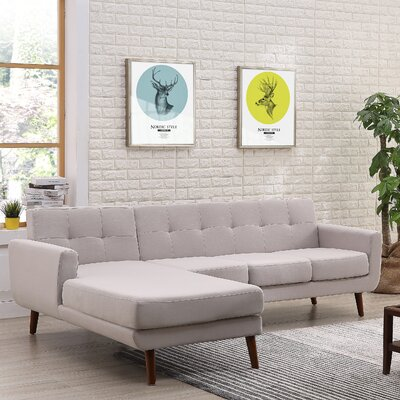 Conor Sectional (Set of 2) Upholstery: Gray, Orientation: Left Hand Facing