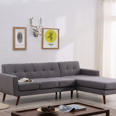 Conor Sectional (Set of 2) Upholstery: Paynrs Gray, Orientation: Right Hand Facing