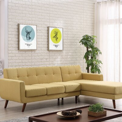 Conor Sectional (Set of 2) Upholstery: Beige/Tan, Orientation: Right Hand Facing