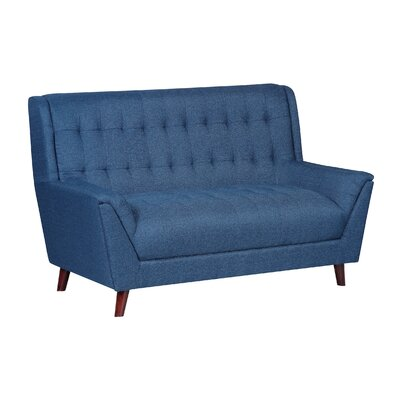 Bronwyn Tufted Mid Century Loveseat Upholstery: Ocean Blue