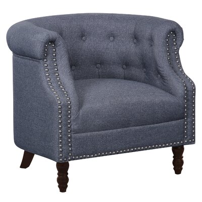 Willisville Button Tufted Chesterfield Chair Upholstery: Dark Gray