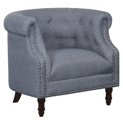 Willisville Button Tufted Chesterfield Chair Upholstery: Gray