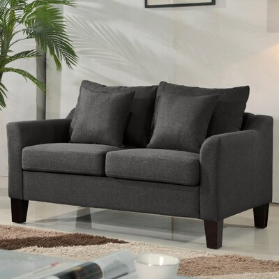Michael Classic Loveseat Upholstery: Dark Gray