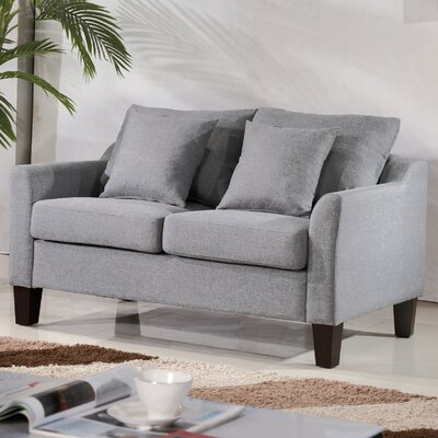 Michael Classic Loveseat Upholstery: Light Gray