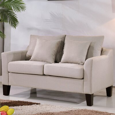Michael Classic Loveseat Upholstery: Beige/Tan