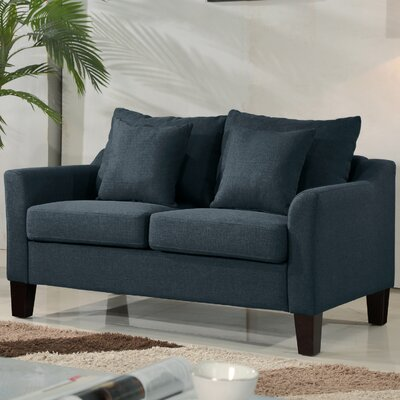 Michael Classic Loveseat Upholstery: Blue