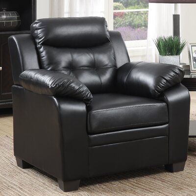 Kaitlin Club Chair Upholstery: Black