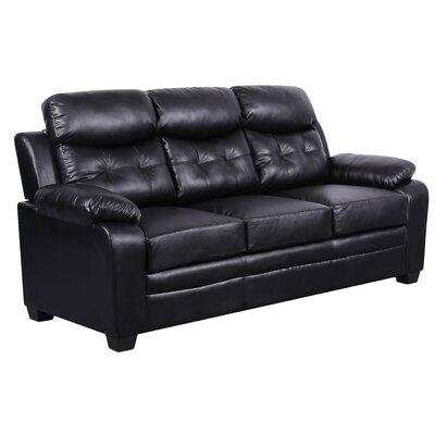 Kaitlin Modern Sofa Upholstery: Black
