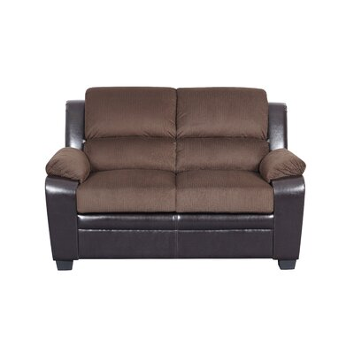 Wes Loveseat Upholstery: Chocolate