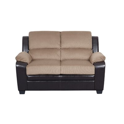 Wes Loveseat Upholstery: Light Brown
