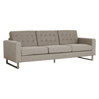 Zander Tufted Sofa Upholstery: Brown