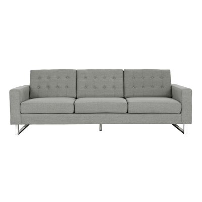 Zander Tufted Sofa Upholstery: Gray
