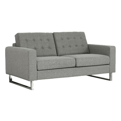 Zander Tufted Loveseat Upholstery: Gray