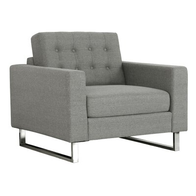 Zander Arm Chair Upholstery: Gray