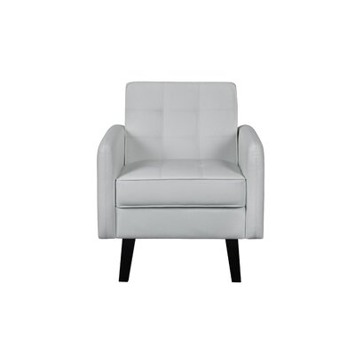 Tannen Accent Armchair Upholstery: Cream White