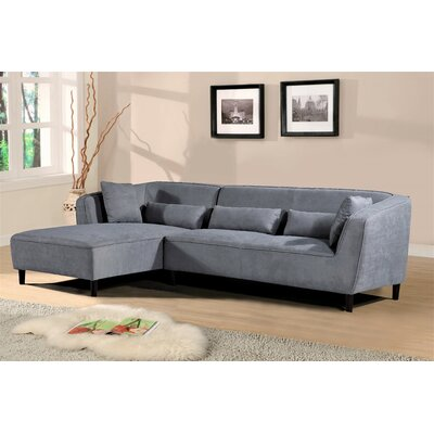 Coney Elegant Modern Sectional Upholstery: Gray, Orientation: Left