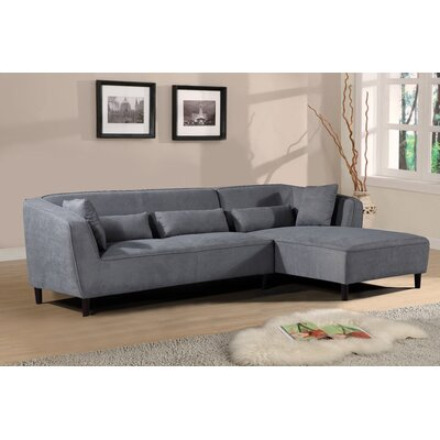 Coney Elegant Modern Sectional (Set of 2) Upholstery: Gray, Orientation: Right