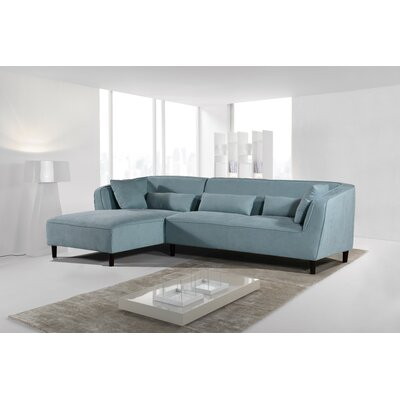 Coney Elegant Modern Sectional Upholstery: Teal Zeal, Orientation: Left