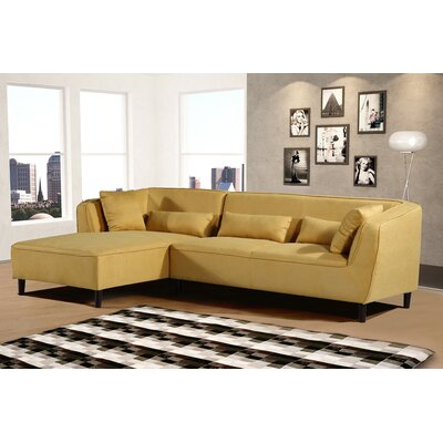 Coney Elegant Modern Sectional Upholstery: Mustard, Orientation: Left