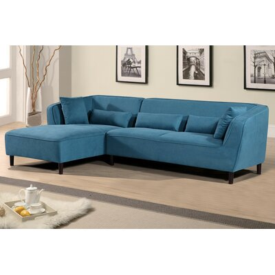 Coney Elegant Modern Sectional (Set of 2) Orientation: Left, Upholstery: Teal