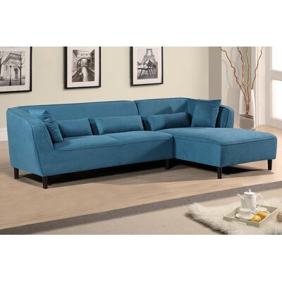 Coney Elegant Modern Sectional (Set of 2) Orientation: Right, Upholstery: Teal