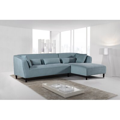 Coney Elegant Modern Sectional Upholstery: Teal Zeal, Orientation: Right