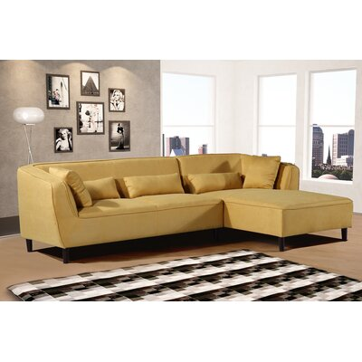 Coney Elegant Modern Sectional (Set of 2) Upholstery: Mustard, Orientation: Right