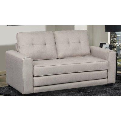 Duke Sleeper Sofa Upholstery: Beige/Light Gray