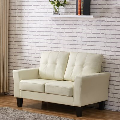 Althea Tufted Loveseat Upholstery: Cream White
