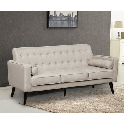 Valadez Mid Century Tufted Sofa Upholstery: Beige/Light Gray