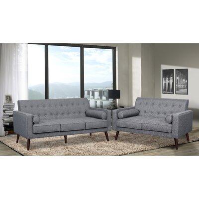 Vandenberg 2 Piece Living Room Set Upholstery: Light Gray