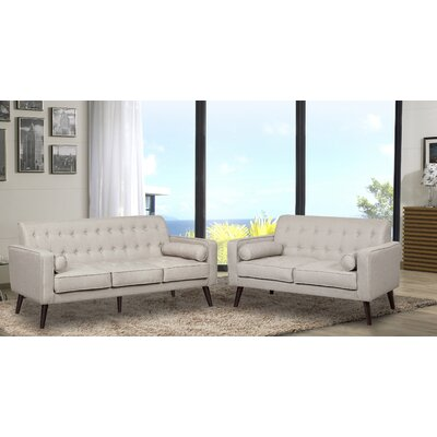 Vandenberg 2 Piece Living Room Set Upholstery: Beige/Light Gray