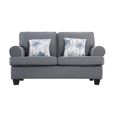 Ashkum Classic Design Loveseat Upholstery: Gray