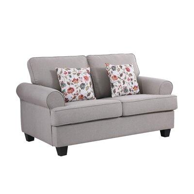 Ashkum Classic Design Loveseat Upholstery: Tan