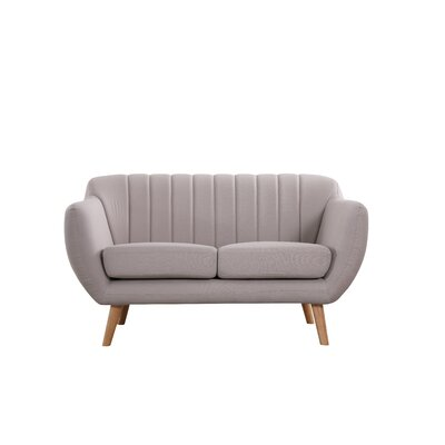 Villalba Sophisticated and Stylish Standard Loveseat Upholstery: Beige/Light Gray