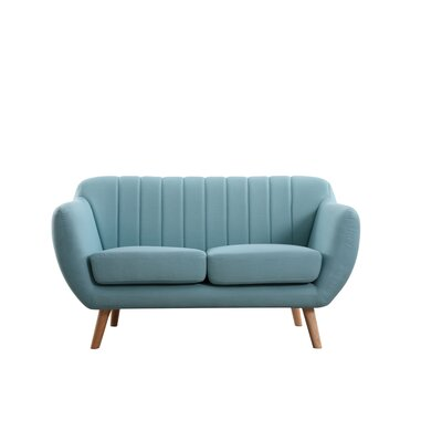 Villalba Sophisticated and Stylish Standard Loveseat Upholstery: Eton Blue