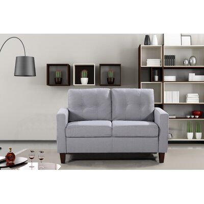 Molinari Tufted Loveseat Upholstery: Light Gray