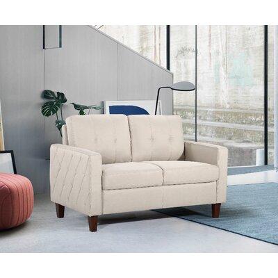 Harrad Tufted Mid-Century 2 Piece Living Room Set Upholstery: Beige/Tan