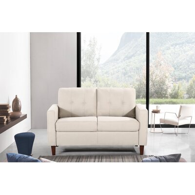 Molinari Tufted Loveseat Upholstery: Beige/Tan
