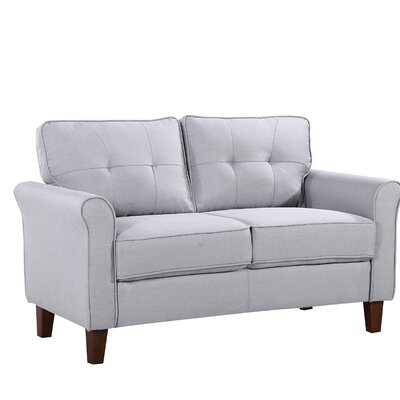 McNaboe Tufted Loveseat Upholstery: Light Gray