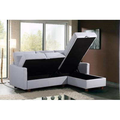 Medjidi Reversible Sectional Upholstery: Light Gray, Orientation: Right Hand Facing/Left Hand Facing