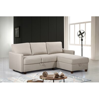 Reversible Sectional Upholstery: Beige/Tan, Orientation: Right Hand Facing/Left Hand Facing