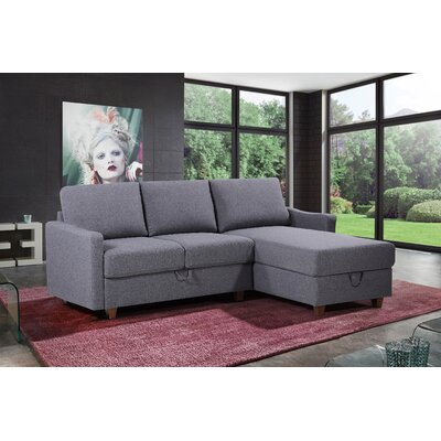 Medjidi Reversible Sectional Upholstery: Dark Gray, Orientation: Right Hand Facing/Left Hand Facing